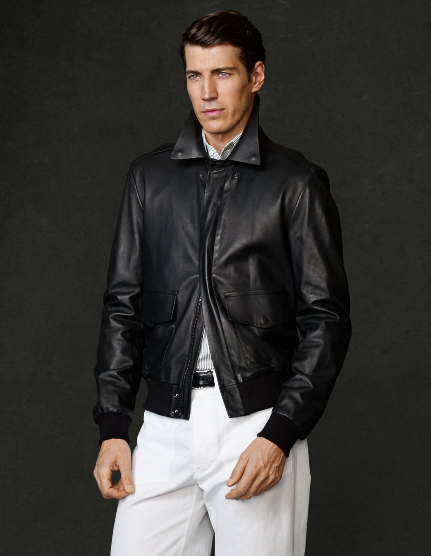 Lambskin Bomber Jacket View All Outerwear Ralphlauren Com Shopping Outfit Clothes Clothes For Women [ 1860 x 1440 Pixel ]