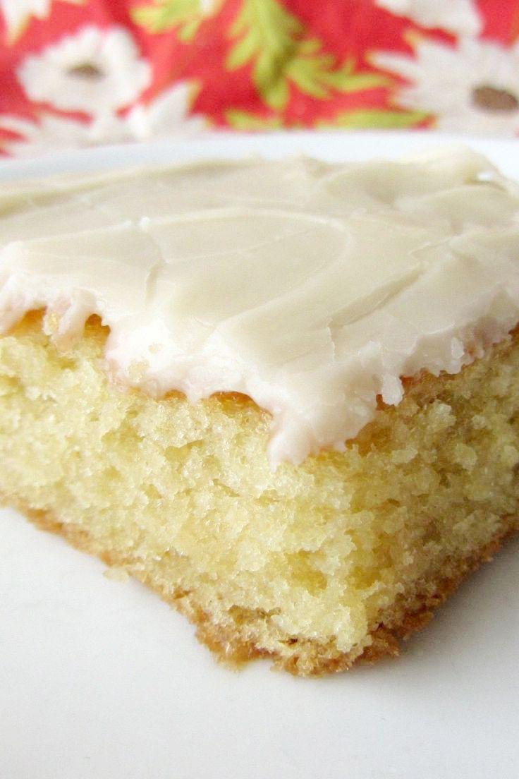 White Texas Sheet Cake Dessert Recipe Desserts Pinterest White