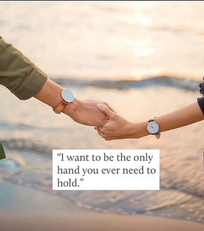 Amazing I Want You Hand Only Make Him Feel Special Quote
