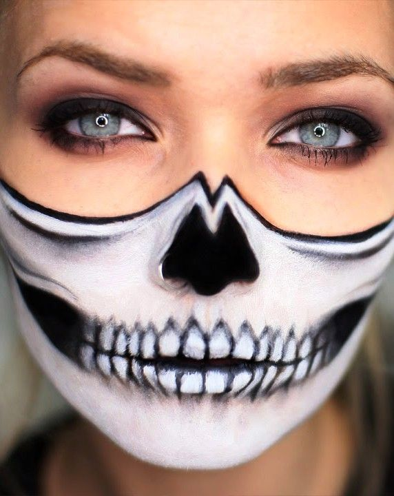Image result for bottom half skull face paint | Skull ...