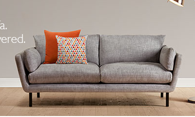 John Lewis Grey Sofa With Orange Cushions Future Home Sofa