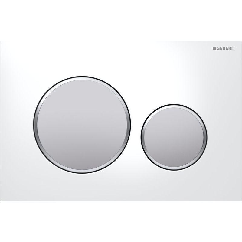 Geberit Sigma 20 Plaque 1 Pieces Blanc Chrome Mat 115 882 Kl 1