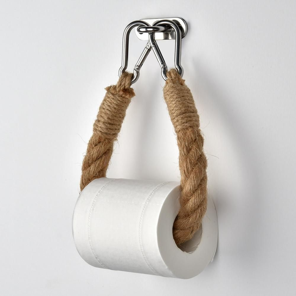 The Rope Toilet Paper Holder In 2021 Vintage Toilet Rope Toilet Paper Holder Vintage Towels