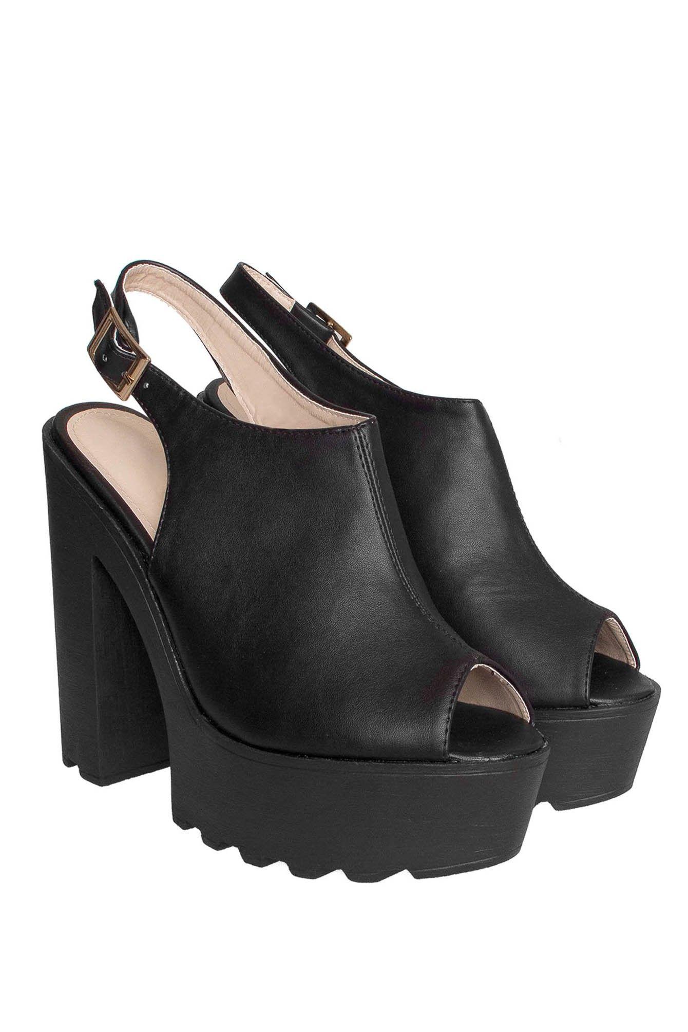 Botines punta abierta negro Keneth - Shoes - Sale
