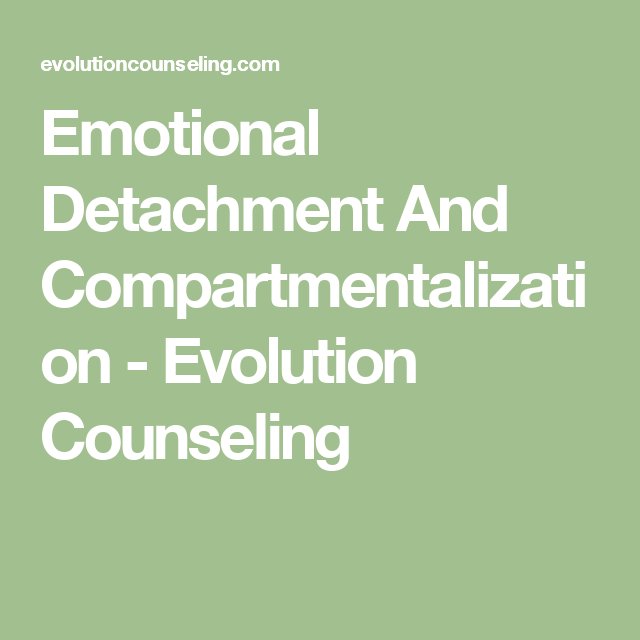 compartmentalization in a relationship