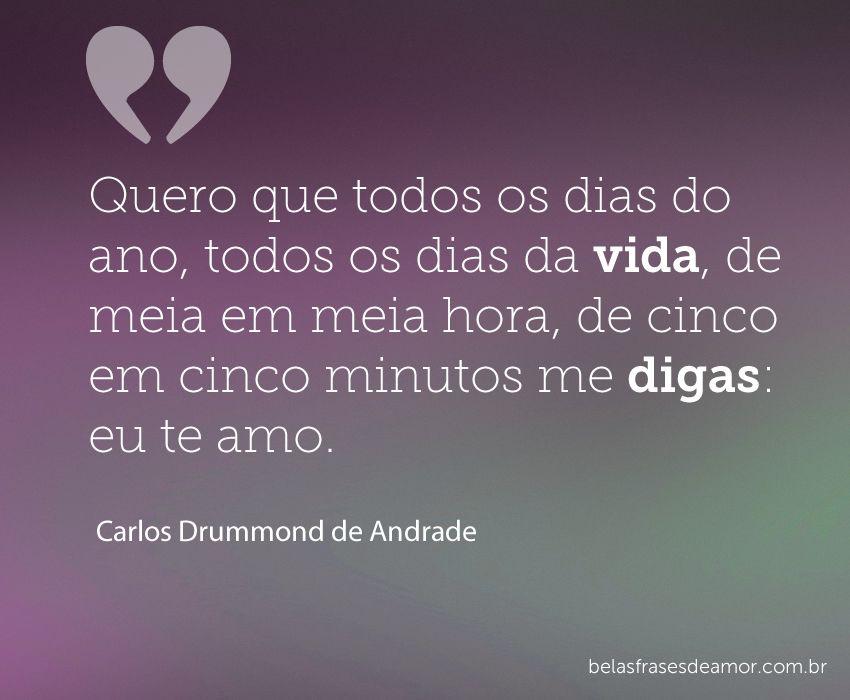 Carlos Drummond De Andrade Frases Poesía Brasil Love Frases E