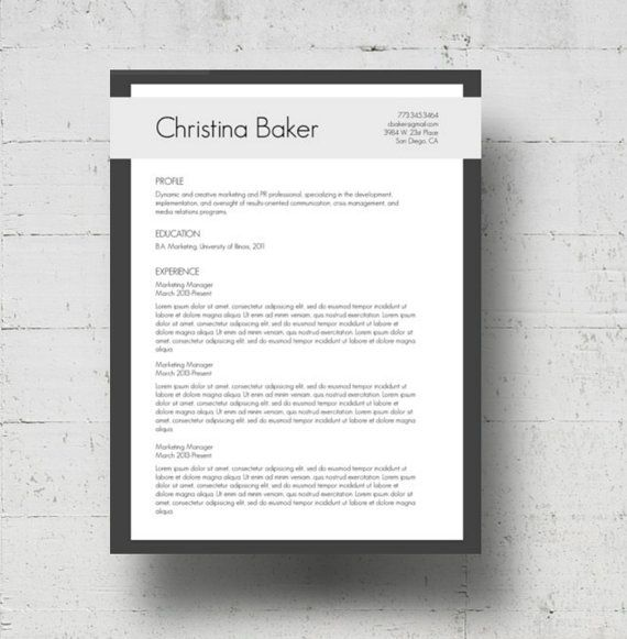 modern resume template cover letter template creative resume template microsoft word document cv template a4 format and us letter