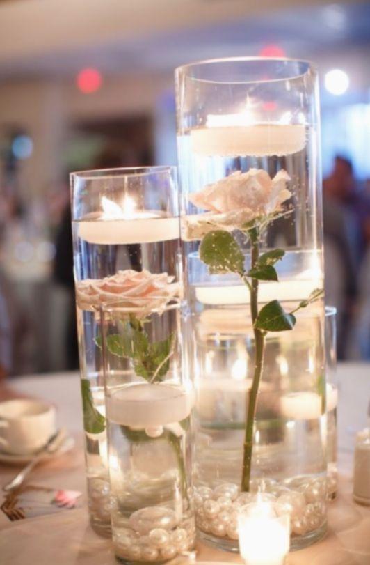 10 Diy Wedding Flowers Table Candle Wedding Centerpieces Cheap Wedding Centerpieces Candle Table Centerpieces
