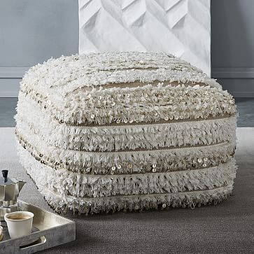 Striped Moroccan Wedding Pouf Westelm Moroccan Meditation Room New West Elm Pouf Review