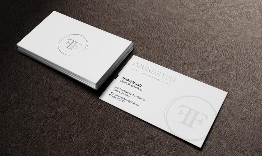 Need a classy/elegant business card for high end growth consultancy ...