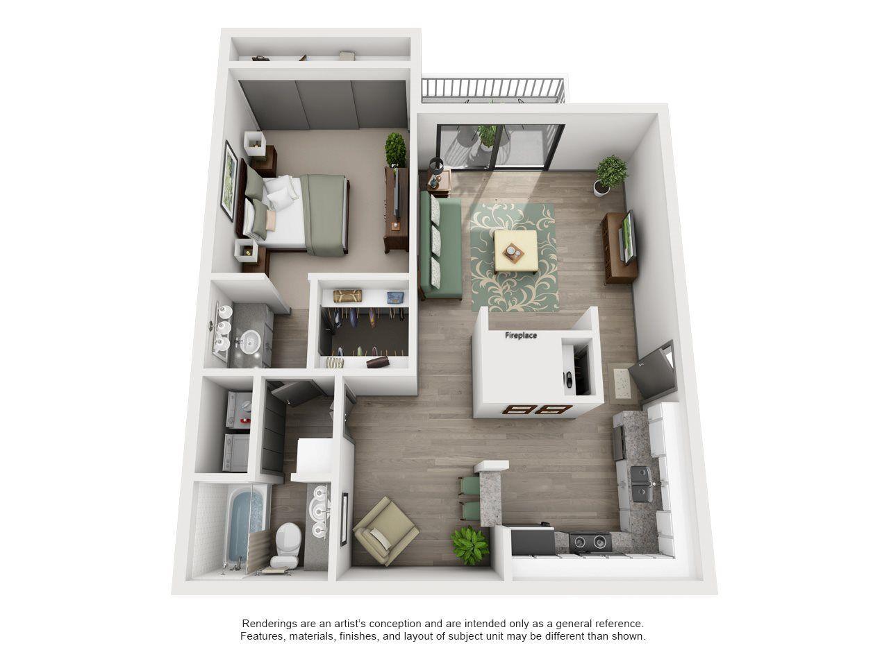 Mulligan Adair Ii Off Addison 1x1 Floor Plan 12 Floor Plans Apartment Layout Facade House