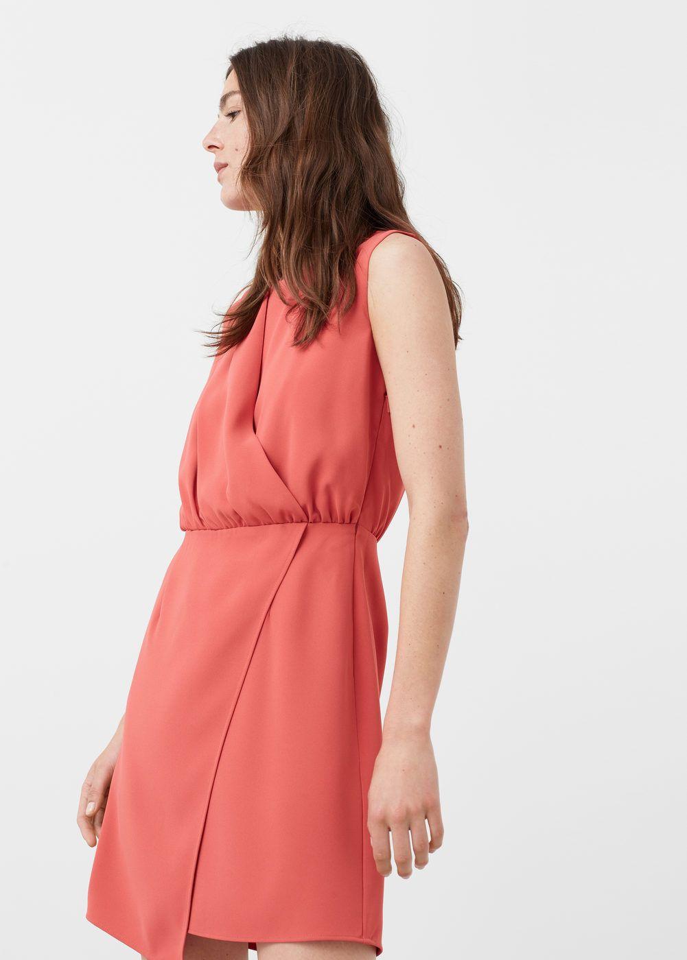 Mango Vestido Detalle Mujer Drapeado Y PqTq1v 371b138bea9