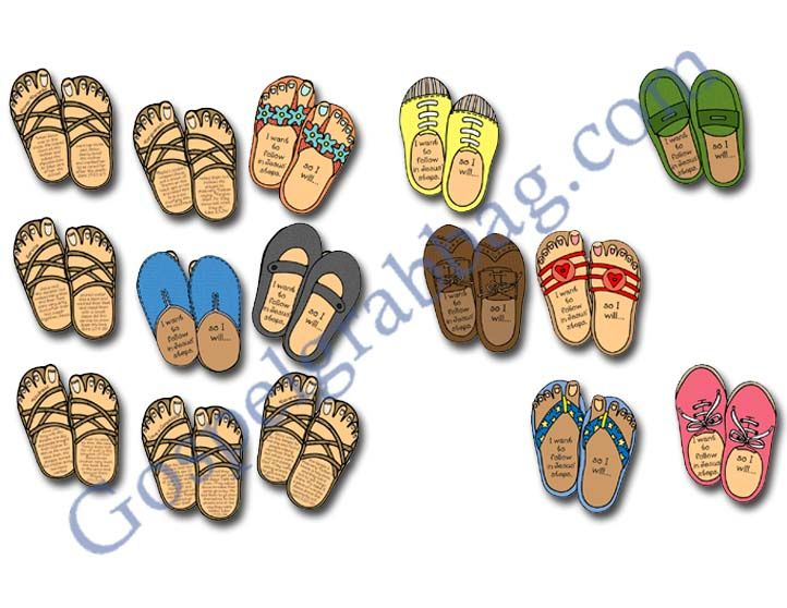 Example: LDS Lesson Activity: Following Jesus - Footsteps Match Game,  Sharing Time,