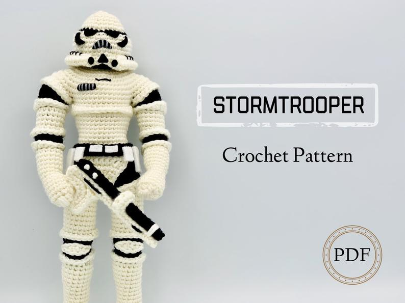 CROCHET PATTERN Stormtrooper Doll // Star Wars Inspired Crochet // Amigurumi // Nerd Crochet // Toy Crochet // Minion Crochet #minioncrochetpatterns