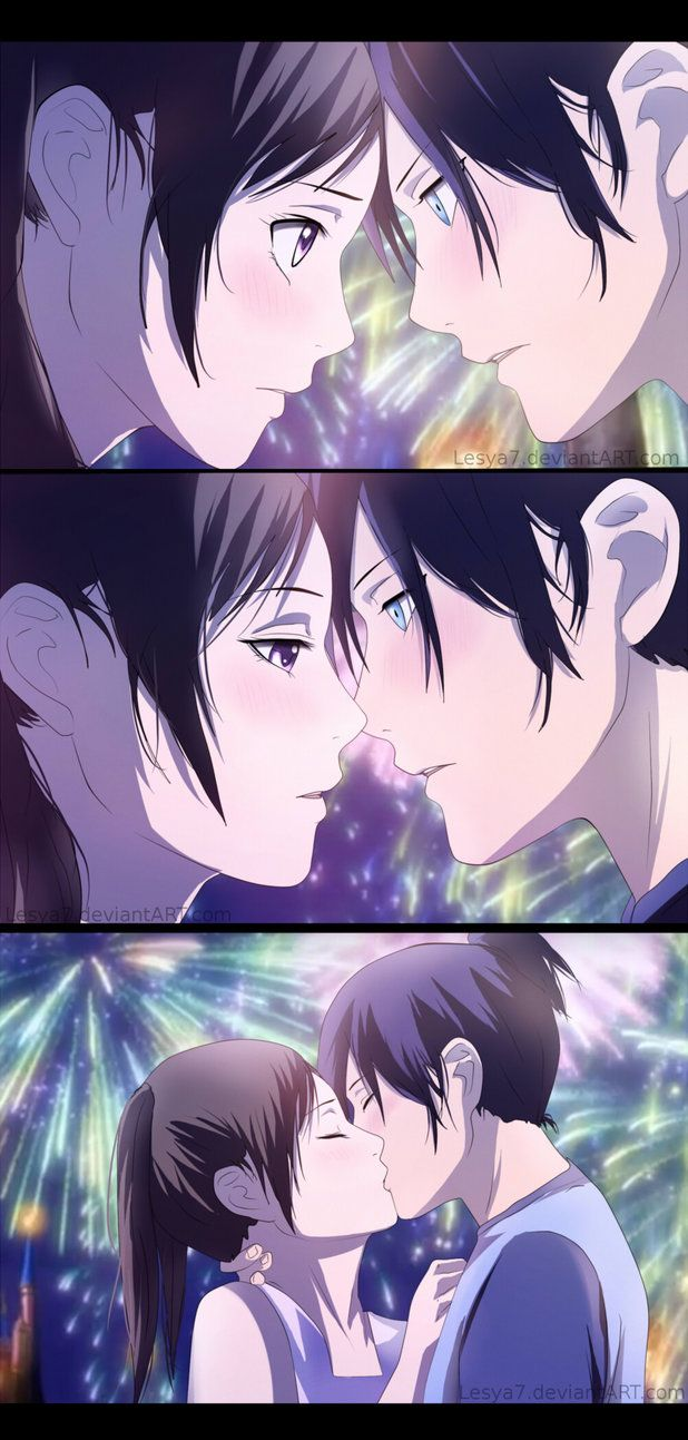 Noragami Yato X Hiyori Kiss By Lesya7 On Deviantart Yato And