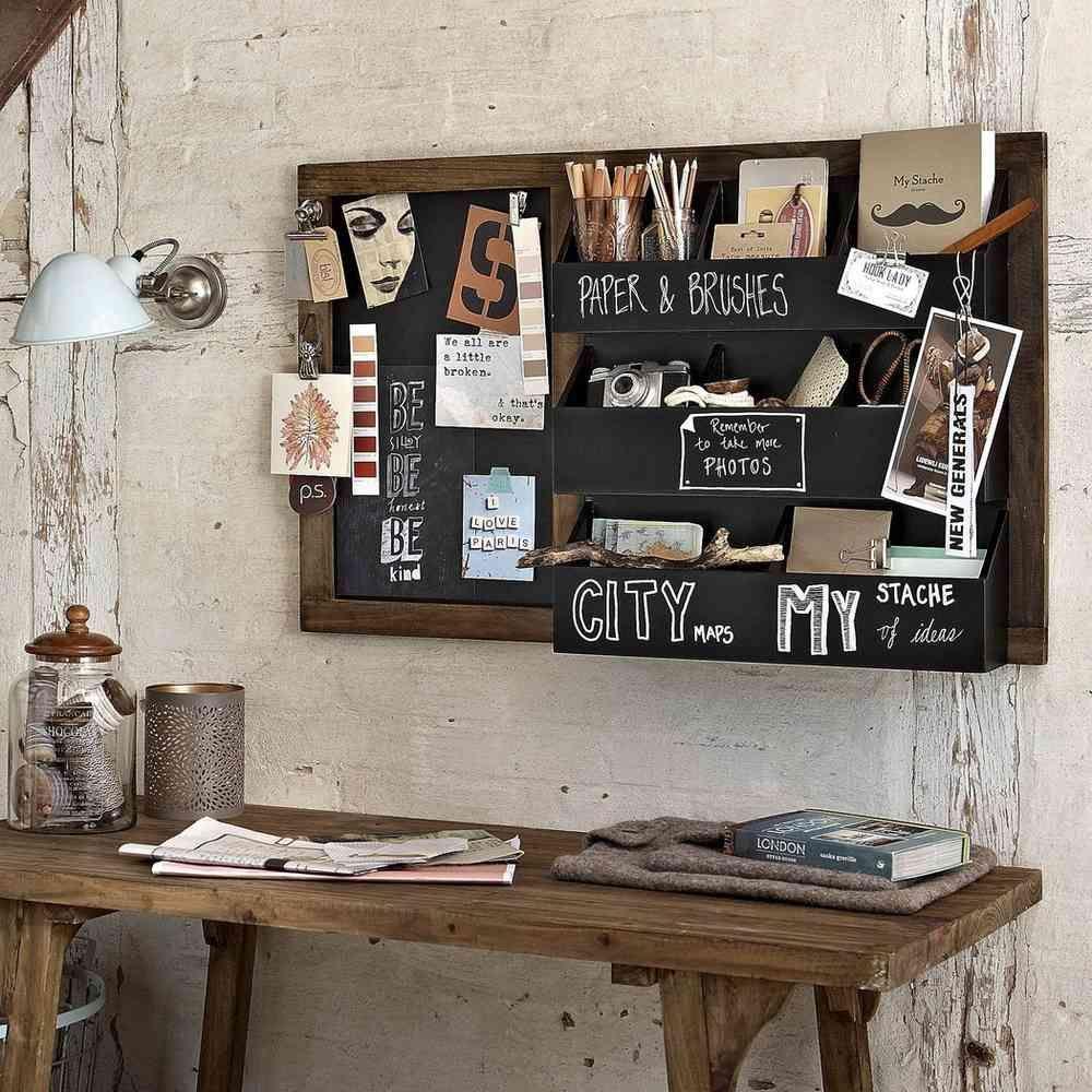 Design Vintage Blackboard Organiser Blackboard Shelving Love