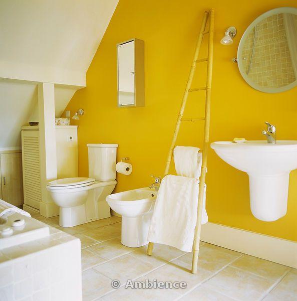 Bright Yellow Bathroom Colors