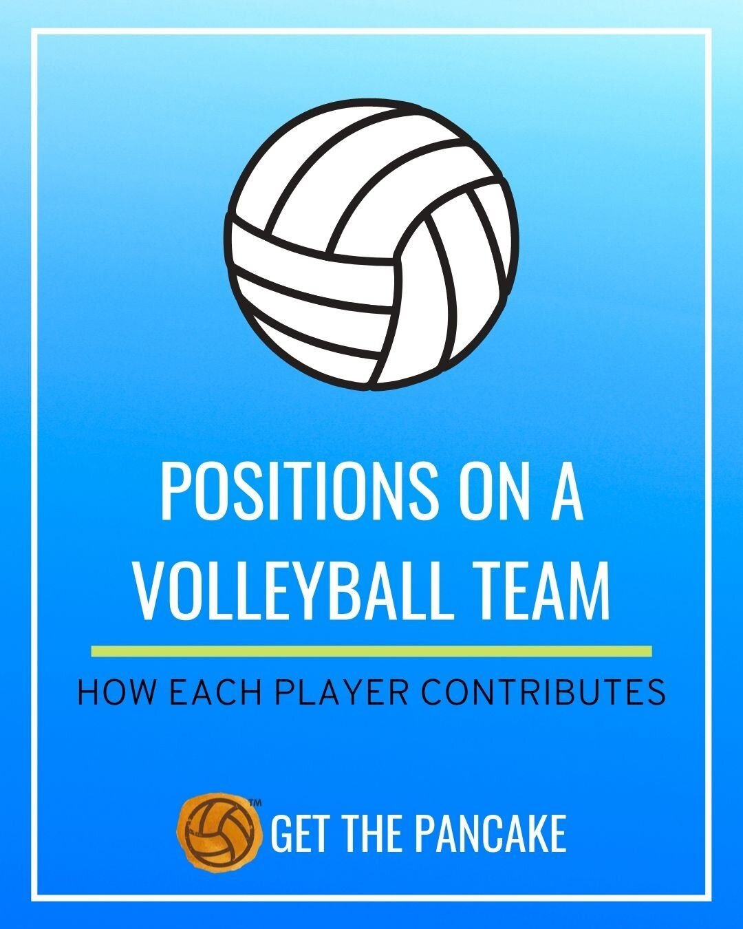 Positions On A Volleyball Team Get The Pancake A Website For Volleyball Coaches Volleyball Team Coaching Volleyball Volleyball Tryouts