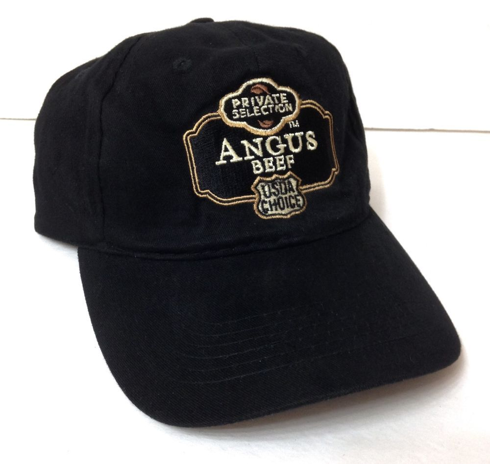 f96bbac214f8b PRIVATE SELECTION ANGUS BEEF HAT black adjustable kroger usda choice  men women  AMC  BaseballCap
