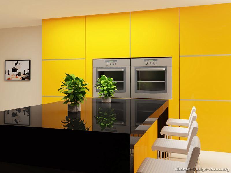 Modern Yellow Kitchen Cabinets #14 (Kitchen-Design-Ideas.org ...