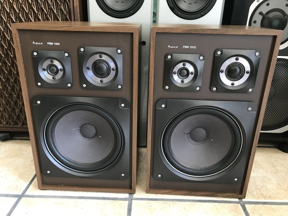 HECO PSM 1000 Professional Speaker Vintage 1970 Made Germany 150 Watts LIKE NEW