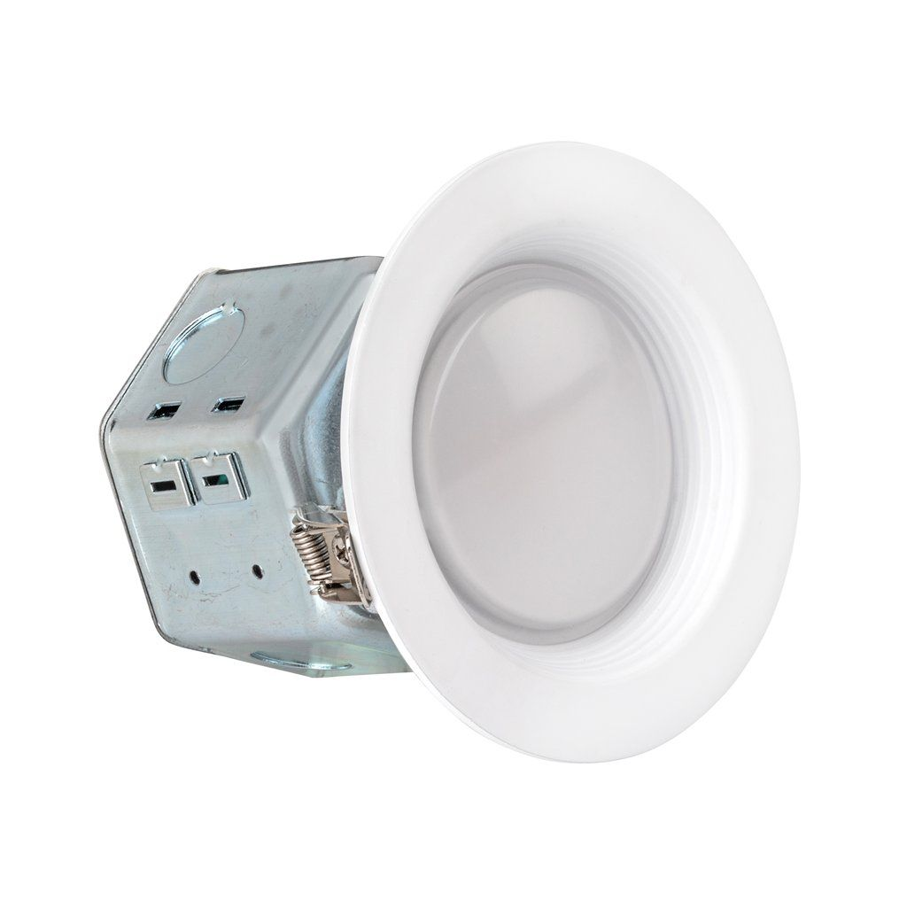4 Inch Junction Box Led Downlight 10w 60w Equivalent Energy Star 700 Lumens Wet Rated Recessed Ceiling Light 120v No Can Needed Etl Listed Con Immagini