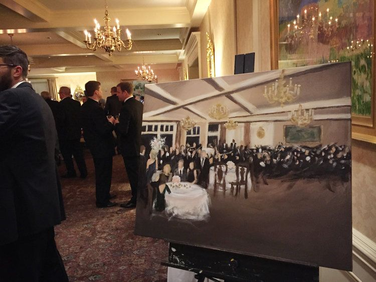 Live Wedding Painting At Scioto Country Club In Upper Arlington Oh Live Wedding Painting Wedding Painting Wedding Painting