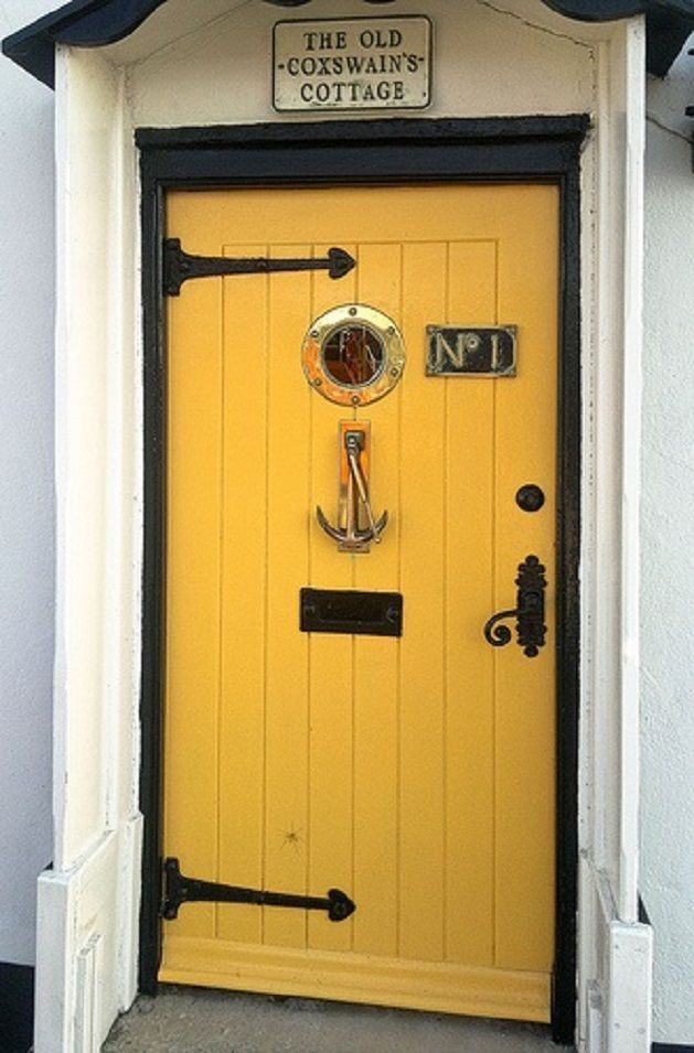 Nautical door - complete with porthole window and anchor knocker. This will be my front door one day! & Nautical Decorating Ideas | TROPICAL DECORATING | Pinterest ... pezcame.com