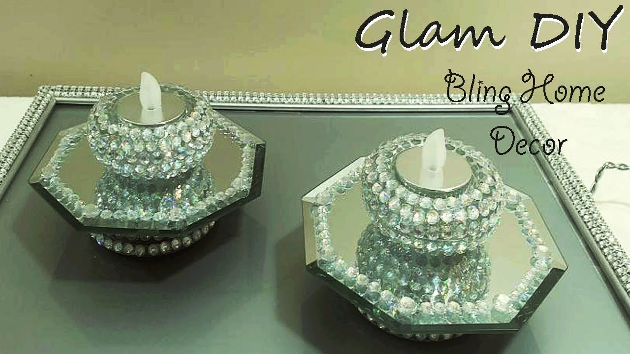 Dollar tree diy glam bling mirror tealight holders youtube you