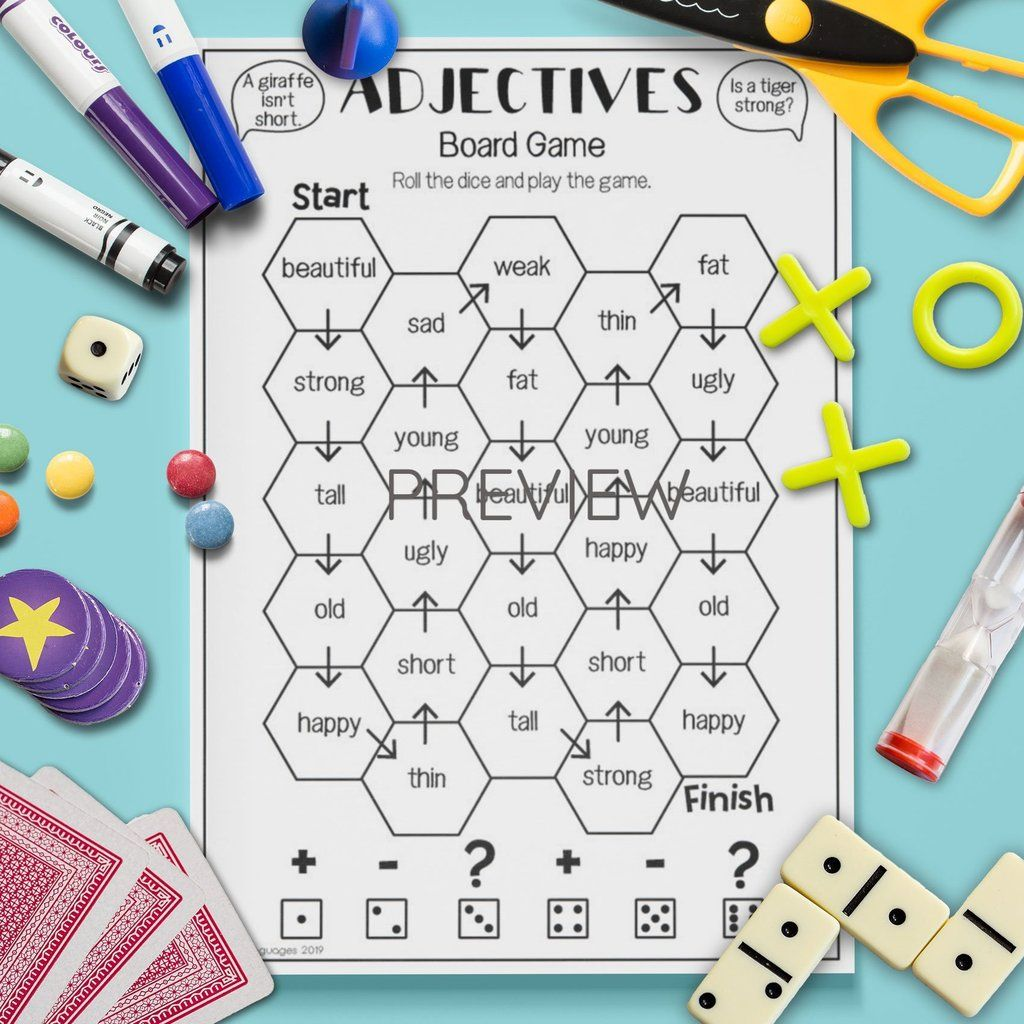 Adjectives Board Game