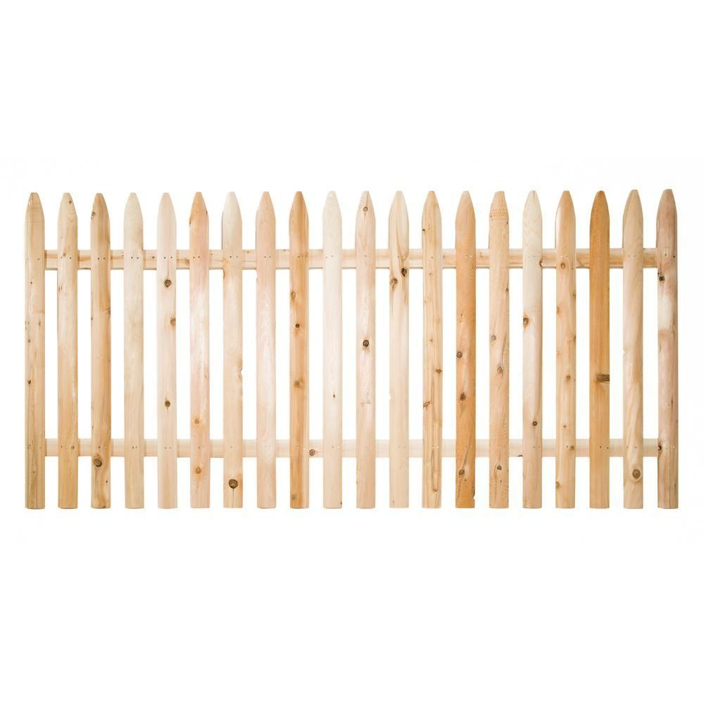 4 ft. H x 8 ft. W Eastern White Cedar Moulded 3 in. Spaced Pointed ...