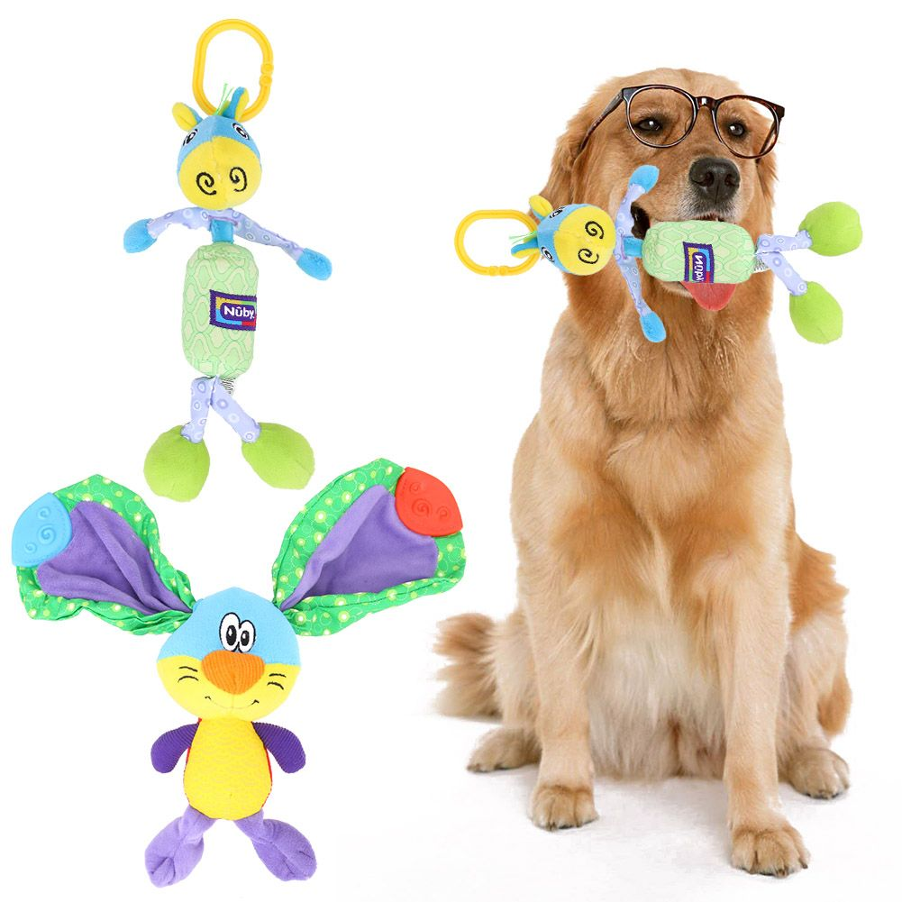 Click To Buy Dog Toys Pet Product Colorful Puppy Chew Squeaker