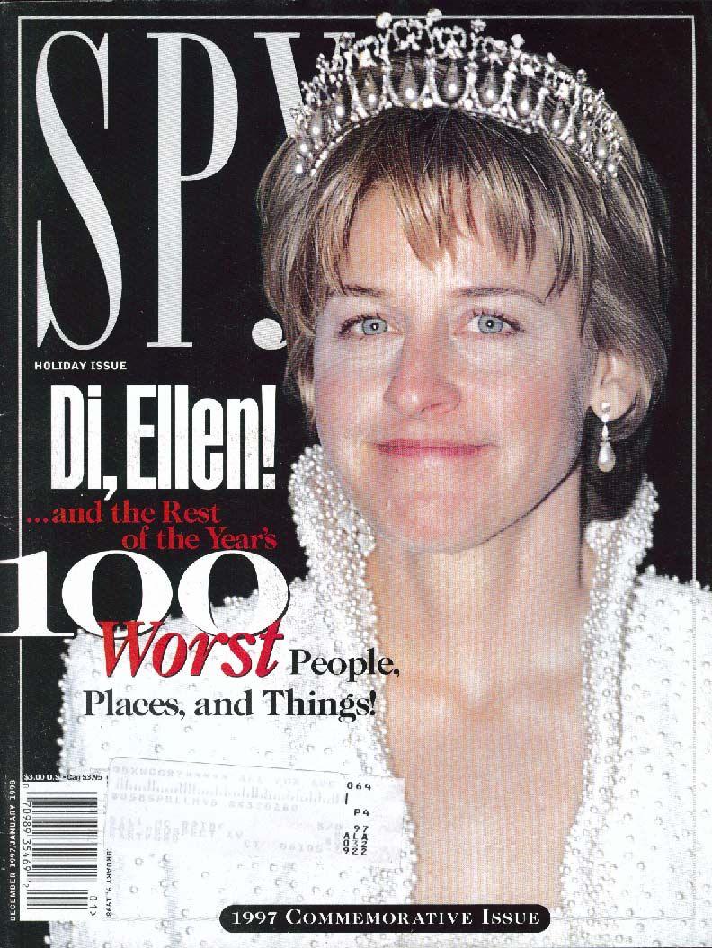 Ellen DeGeneres photoshoped on Princess Diana - SPY magazine ...