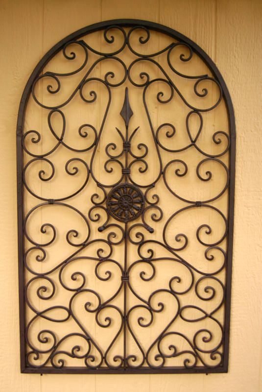 This Wrought Iron Wall Décor would make a nice design and décor ...