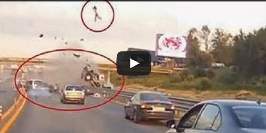 the worst car accident ever woman thrown 20 meters in air