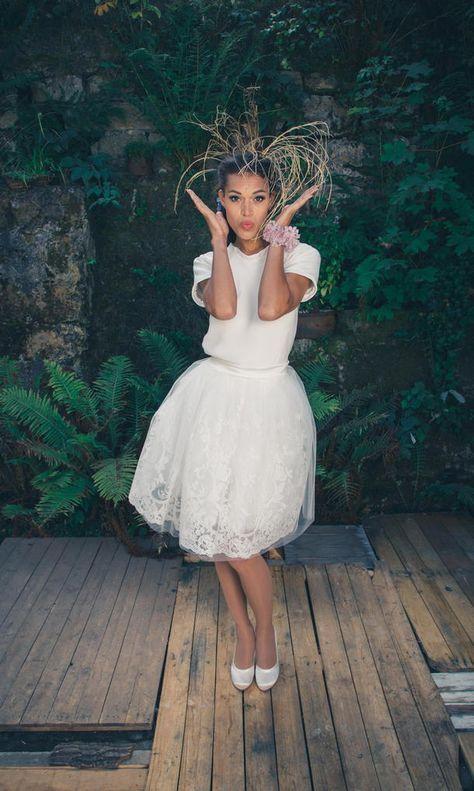 Modernes Standesamtkleid   Brautkleid standesamt ...