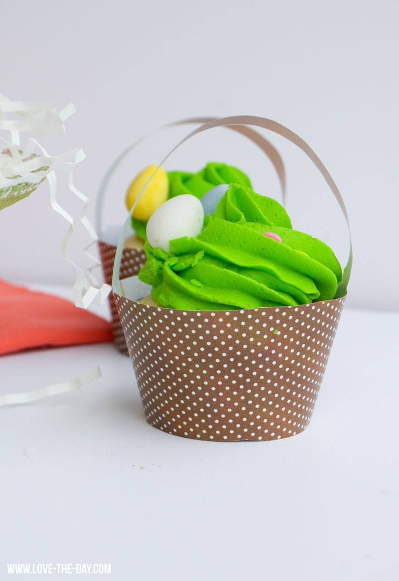 DIY Printable Easter Cupcake Baskets by Lindi Haws of Love The Day