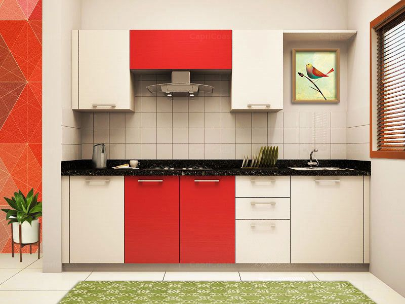 Straight locarno modular kitchen on capricoast is for Straight kitchen ideas