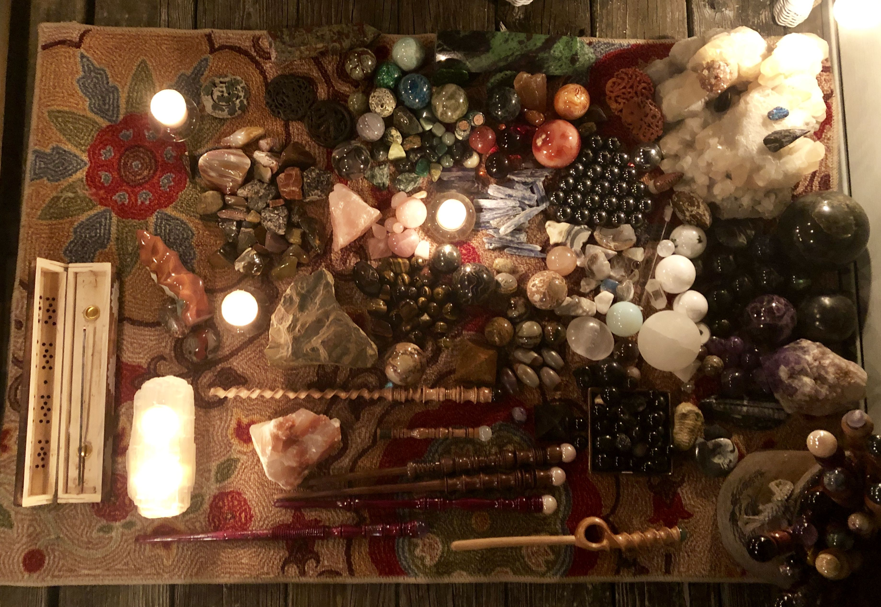 how to cleanse and charge crystals new moon