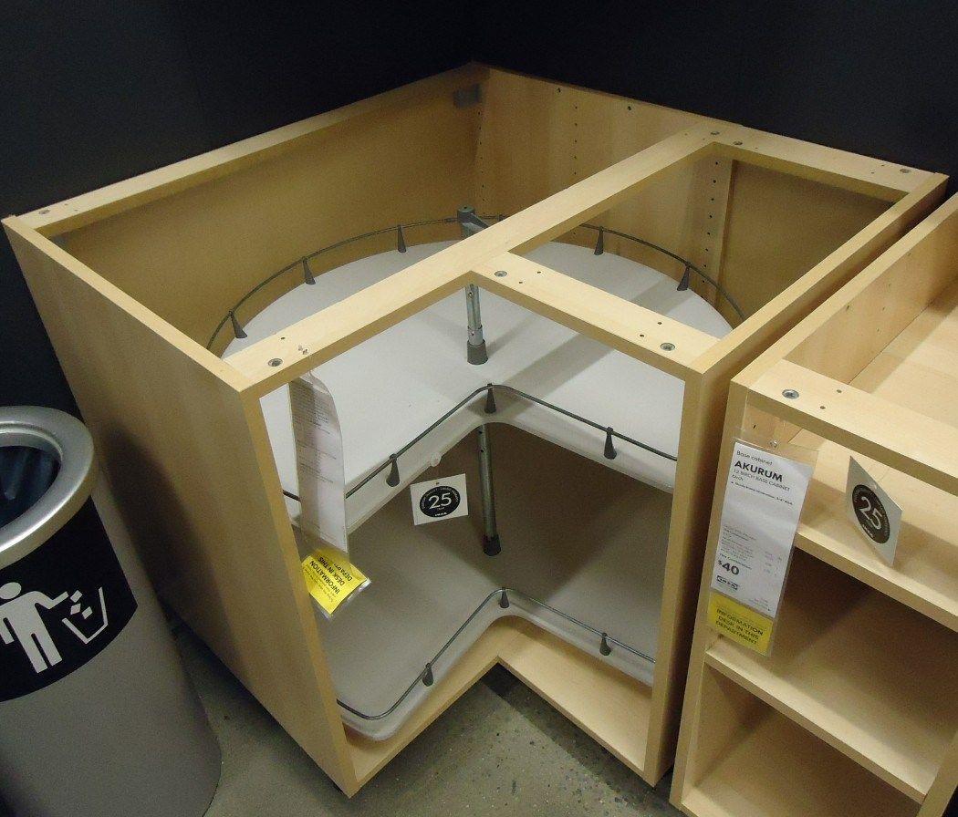 description kitchen cabinet corner design showing turntable ...