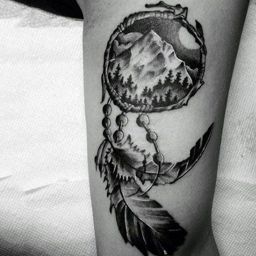 40 Dreamcatcher Tattoos For Men Cool Tattoos For Men Pinterest Unique Indian Dream Catcher Tattoos