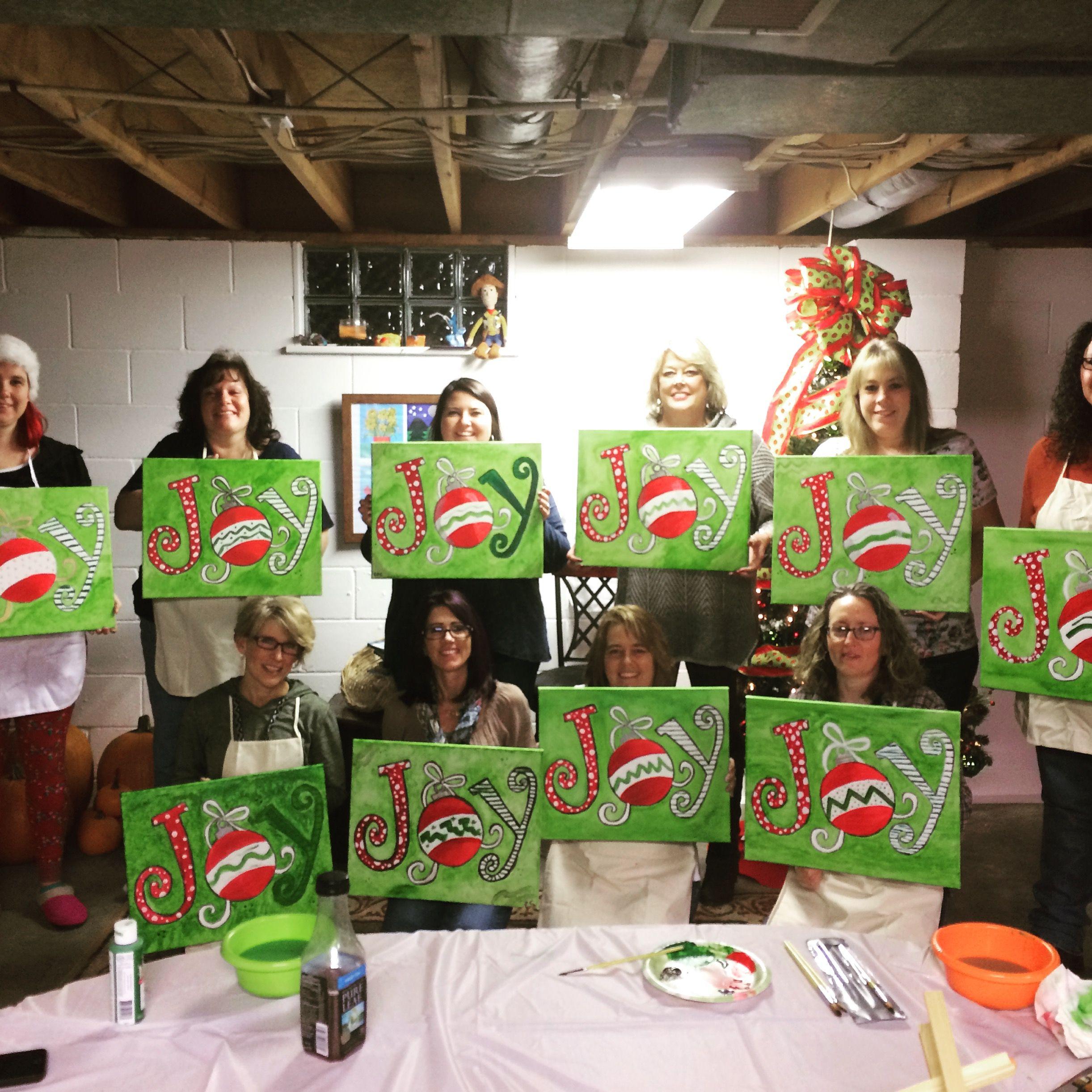 "December 2 Adult class painting ""Christmas Joy"""