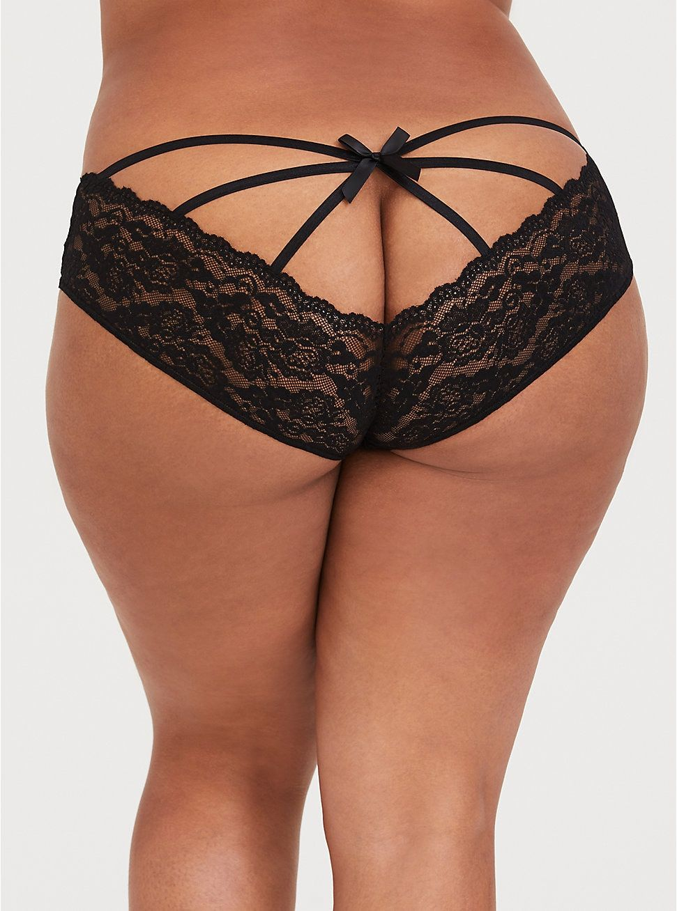 1d814ac75d586 ... dry lowImported plus size underwear. Black Caged Lace Panty