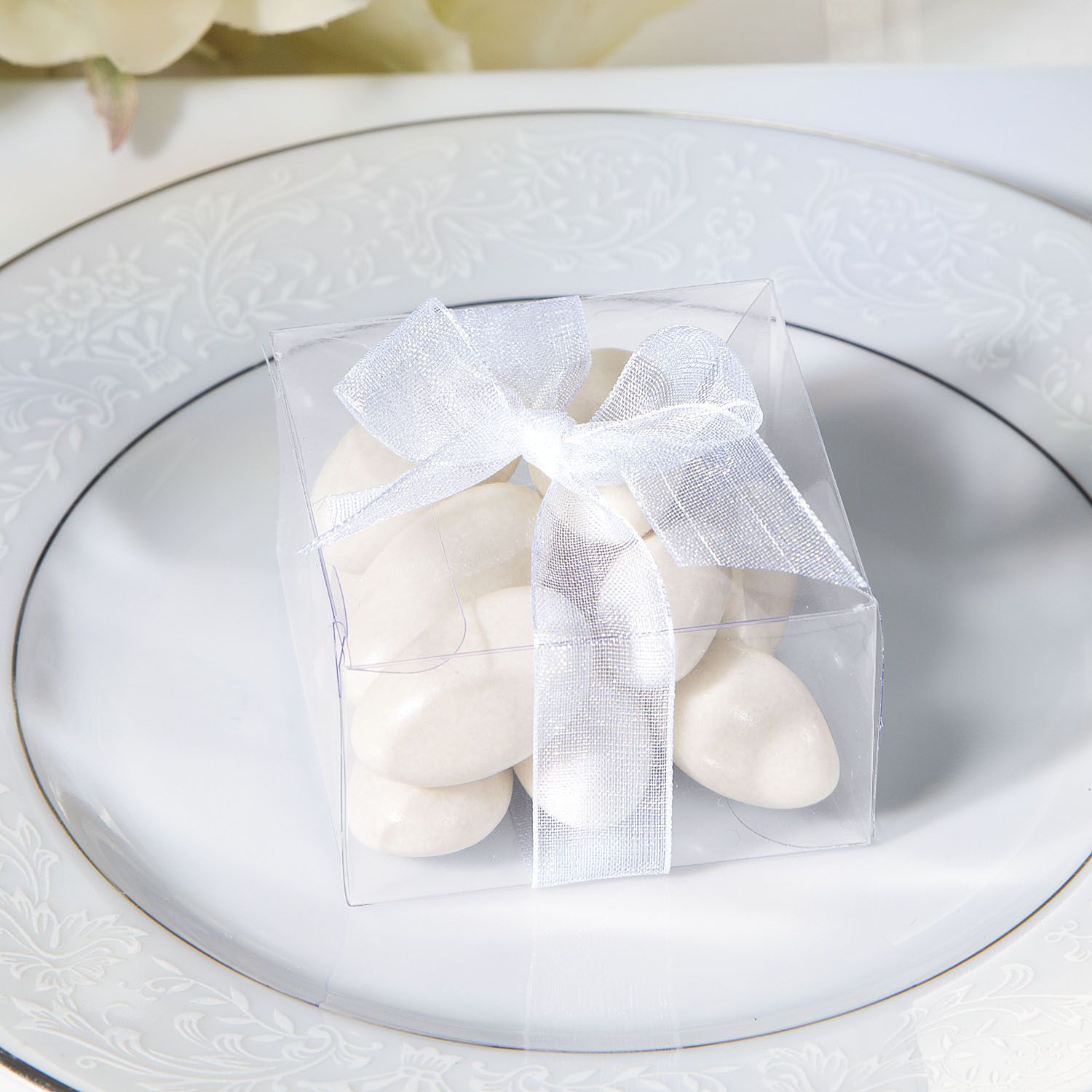Mini Favor Boxes with Organza Bow | Reception, Elegant and Favors