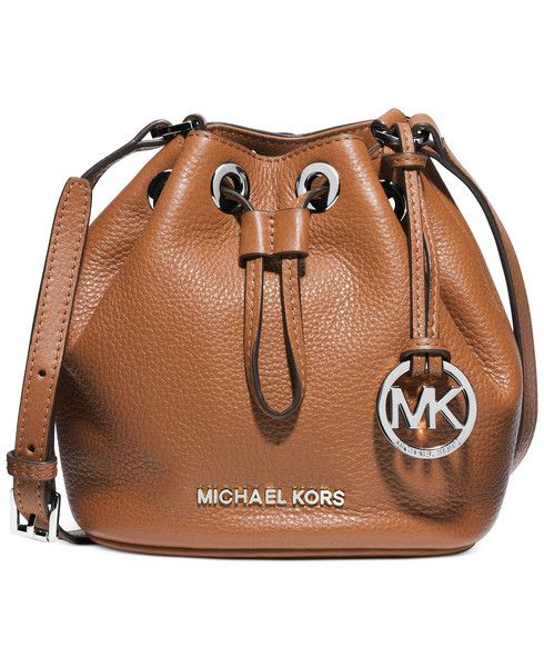 216b62b16e9b MICHAEL Michael Kors Mini Jules Drawstring Crossbody Bucket Bag in Luggage  Brown