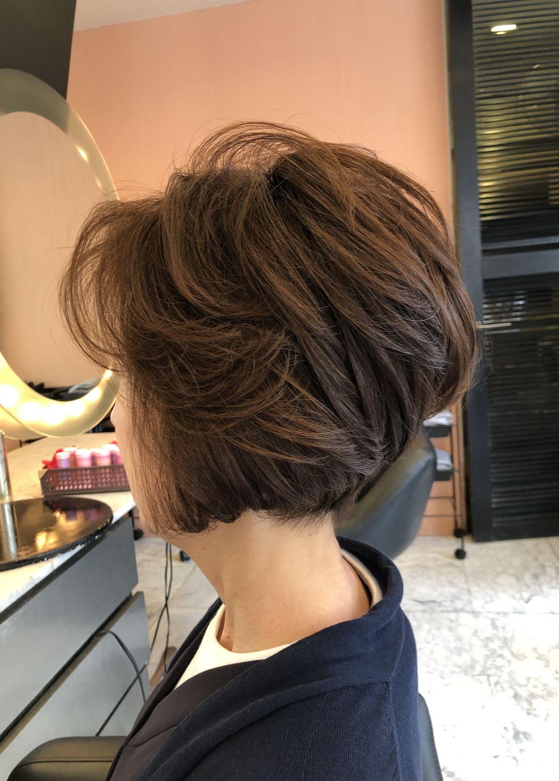 40代50代60代ヘアスタイル髪型 ショートボブ 60代 ヘアスタイル