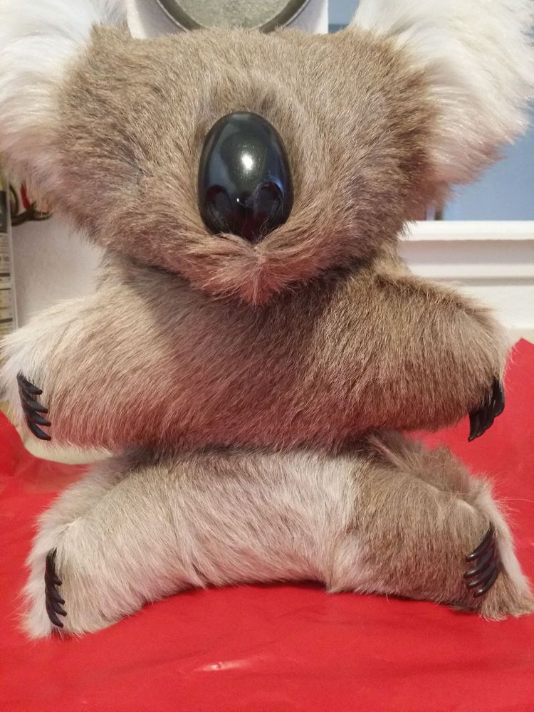 12 Vintage Real Hair Fur Australian Koala Bear Stuffed Animal Plush