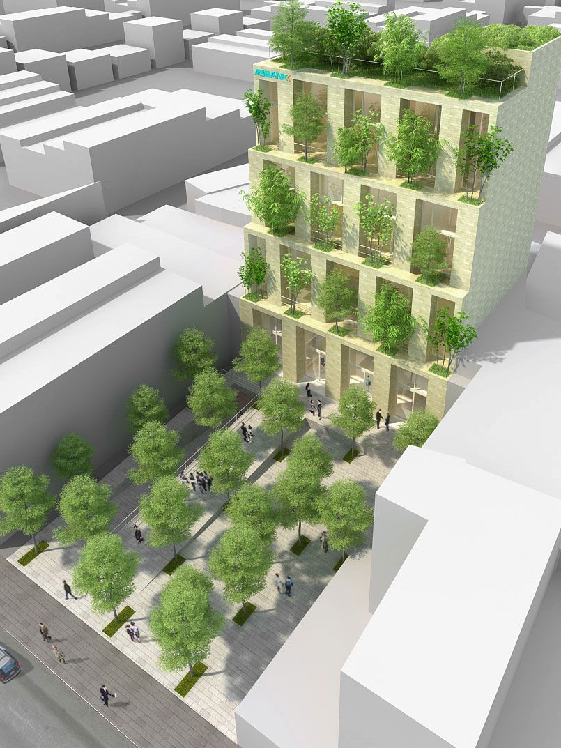 VTN Vo Trong Nghia Architects Trees Building for
