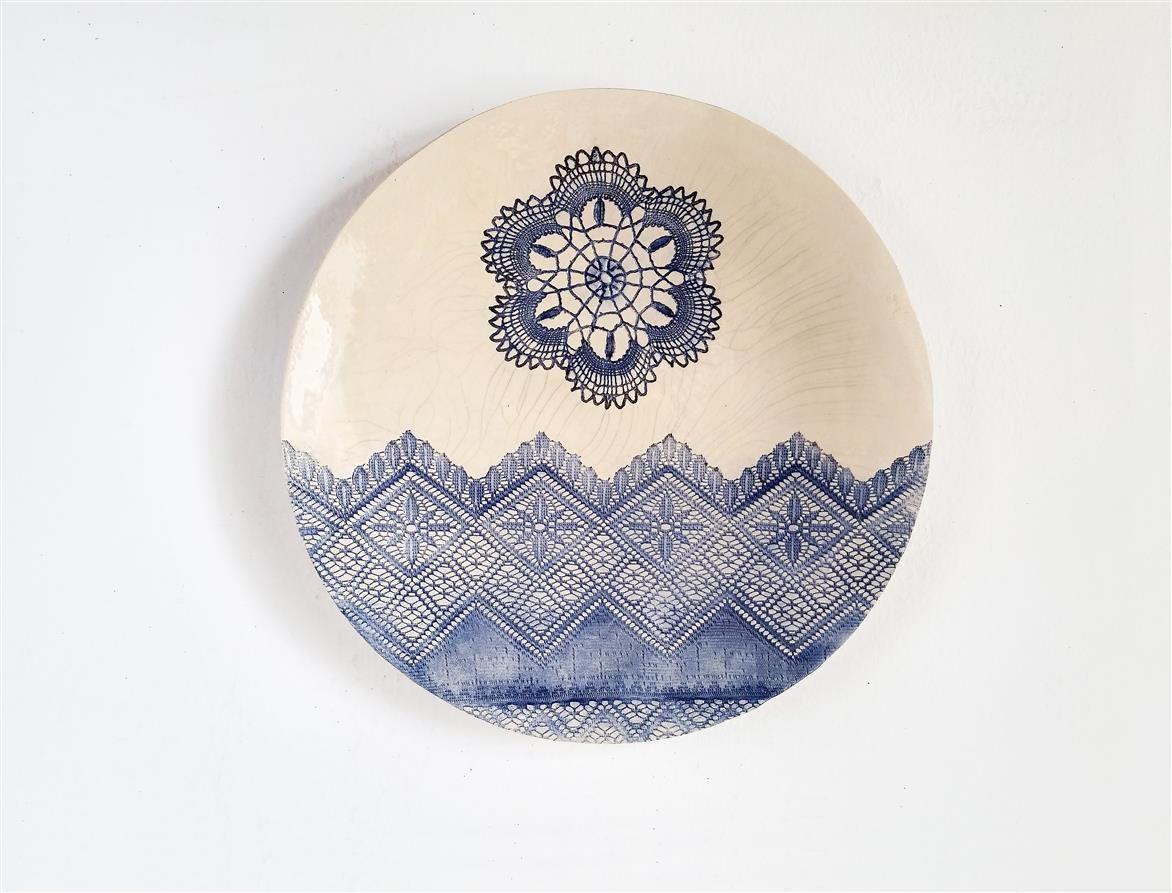 Best Kunst Keramik Platte Wand Deko Teller Interior Dekor Garten Deko Shabby Chic Keramik by Tanja Shpal Art Deco Ethno Platte Geschenk