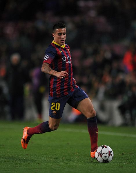 Cristian Tello of FC Barcelona in action during the UEFA Champions League, Group H match between FC Barcelona and Celtic FC at the Camp Nou Stadium on December 11, 2013 in Barcelona, Catalonia.